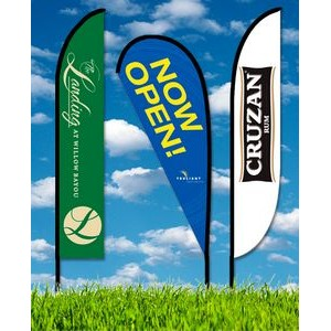 Zoom 5 Teardrop Flag w/ Stand - 15.7ft Single Sided Graphic